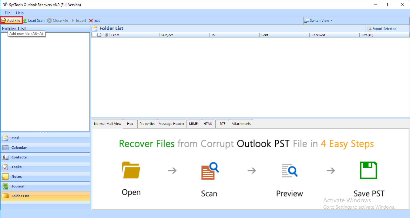 Recover Deleted Outlook Emails Using PST File Recovery Tool