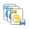 save restored data into PST, EML & MSG